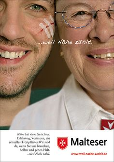 MALTESER HILFSDIENST PLAKAT 01 Malteser, First Aid Only, Poster, Face