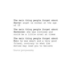 So true. In the end they were all just kids with flaws and good qualities. << Thank you!
