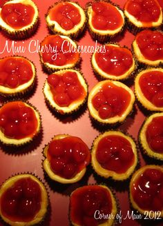mini cheesecakes with vanilla wafers in the bottom
