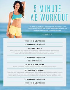 GET FIRED UP… 5 Minute ABS!