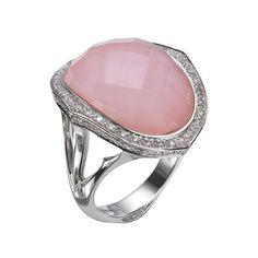 Stephen Webster Pink Opal Derby Crystal Haze Ring ($10,525) ❤ liked on Polyvore