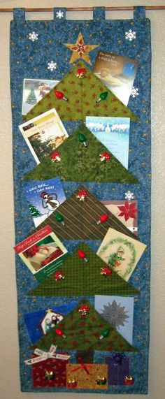 Starry Starry Night  Christmas Card Holder by PureJoyPatterns, $9.00