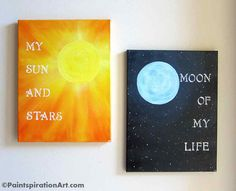 Game of Thrones My Sun and Stars Wall Art by Paintspiration. These would be too cute above the bed!