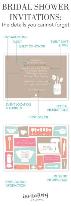 A Checklist For Bridal Shower Invitation Wording  Bridal Shower