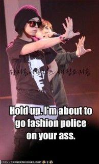 G-Dragon fashion police
