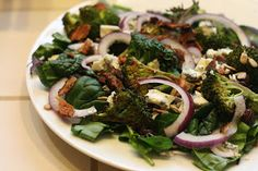 Laine's Recipe Box: Broccoli, Bacon, and Blue Cheese Salad
