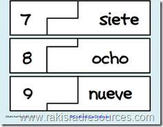 Number Word Self Correcting Puzzle - Classroom Freebies Preschool Math, Kindergarten Math, Teaching Math, Math Activities, Teaching Ideas, Teaching Spanish, Elementary Spanish, Spanish Class, Maths