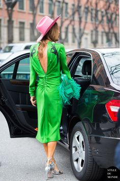 great from the back. AdR in Paris. #AnnaDelloRusso
