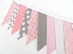 Hey, I found this really awesome Etsy listing at https://www.etsy.com/listing/176993012/pink-grey-chevron-and-dots-bunting
