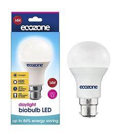 Écozone biobulb d/'économie d/'énergie lumière du jour Ampoule 25 W équivalent à Baïonnette Cap B22