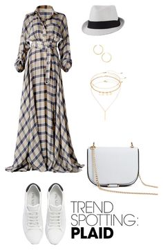 """""""Untitled #2887"""" by nadia-n-pow ❤ liked on Polyvore featuring Prada, Forever 21, Mudd, BaubleBar, contestentry and NYFWPlaid"""