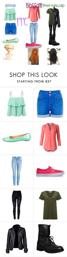 """PPG pt.2"" by jettcc on Polyvore featuring LE3NO, Robert Clergerie, Vans, WithChic, American Vintage and Steve Madden"