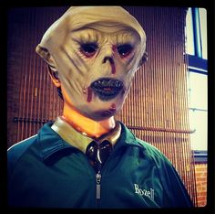 Golfer is ready for Halloween