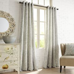 Quint Mineral Curtain | Pier 1 Imports
