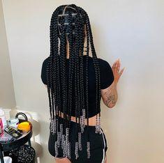Big Box Braids Hairstyles, Braids Hairstyles Pictures, Twist Braid Hairstyles, Black Girl Braids, Braided Hairstyles For Black Women, African Braids Hairstyles, Baddie Hairstyles, Braids For Black Hair, Girls Braids