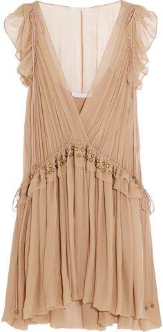 Chloé Ruffled Silk-Chiffon Mini Dress  - Click link for product details :)