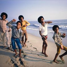 """The Jackson 5, 1969. Photograph by Lawrence Schiller."