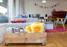crate style storage on casters