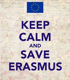 Keep Calm and Save Erasmus / @BiblioUPM   #saveerasmus