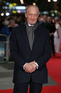 For some reason, Tywin Lannister in a jaunty scarf is cracking me up. His male RBF is always turned up to 11! (Charles Dance, 2016)