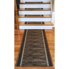 Dean Flooring Company Washable Non Skid Carpet Stair Treads   Boxer  Chocolate (13)