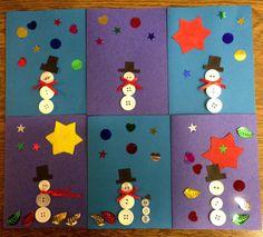 Schneemann Weihnachtskarten