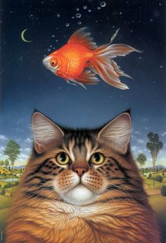 """Braldt Bralds (Dutch artist) """"Cats"""" http://www.painterlog.com/2013/06/braldt-bralds-dutch-artist-cats.html"""