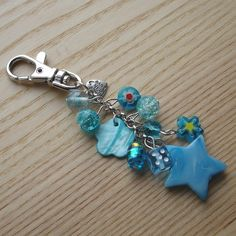 Blue Bead Cluster Bag Charm £5.00
