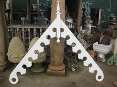 Victorian Barge Board - I'd like holes in the decorative thingees Victorian Windows, Victorian Porch, Victorian Homes, Gingerbread House Patterns, Gable Trim, Gable Decorations, Barbecue Garden, Roof Trim, Carpentry And Joinery