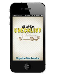 Popular Mechanics Used Car Checklist /// Free