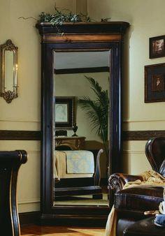 Amazon.com - Hooker Furniture Preston Ridge Floor Mirror with Jewelry Storage - Jewelry Armoires