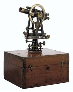 A late Victorian lacquered-brass transit theodolite. Stanley, London.    A theodolite (/θiːˈɒdəlaɪt/) is a precision instrument for measuring angles in the horizontal and vertical planes. Theodolites are used mainly for surveying applications, and have been adapted for specialized purposes in fields like metrology. Transit theodolites (or just 'Transits') are those in which the telescope can rotate in a complete circle in the vertical plane