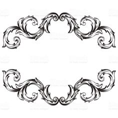 Frame scroll ornament - Illustration royalty-free stock vector art