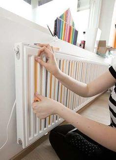 décoration, DIY, radiateur, scotch décoratif