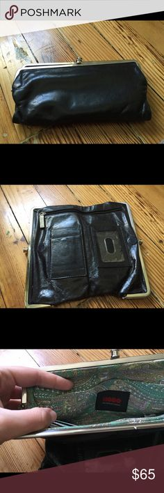 Hobo International Black Wallet Black leather wallet. Great condition. Lots of storage and room for your credit cards. HOBO Bags Wallets