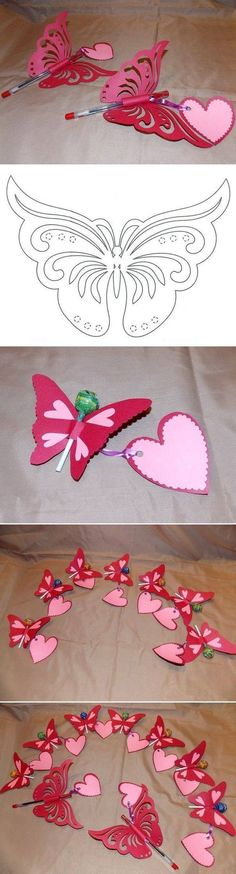 Creative Ideas – DIY Pretty Kirigami Butterfly Postcard from Template #craft #butterfly: