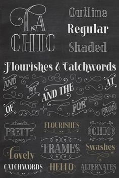 La Chic - Font Family from Cultivated Mind