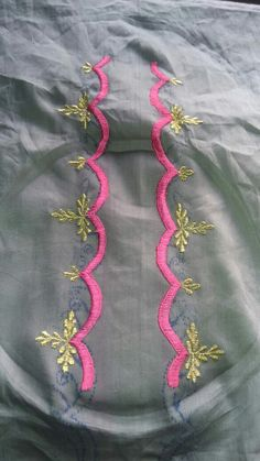 Embroidery Suits Punjabi, Embroidery Suits Design, Hand Embroidery Designs, Embroidery Dress, Embroidered Blouse, Punjabi Dress Design, Designer Punjabi Suits, Dress Neck Designs, Blouse Designs