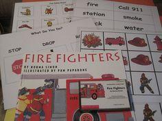 FIRE Fighters Book w Cassette Pocket Chart Word Picture Cards Safety Simon PreK+ #ScholasticTeachermadeitems