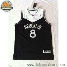 Brooklyn Nets 8 Deron Williams Black White NBA Jersey 249163e23