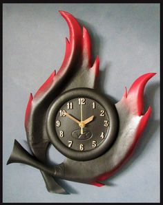 HANDMADE LEATHER Wall Clock RRP $101 *** UNIQUE XMAS or BIRTHDAY GIFT ***