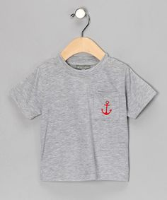 Take a look at this Gray Anchor Embroidered Tee - Infant & Toddler by Petit Confection on #zulily today!