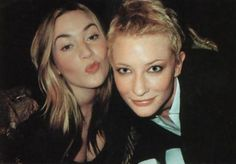 Kate Winslet and Cate Blanchett - behind the scenes of the Vanity Fair Hollywood photoshoot, April 2001