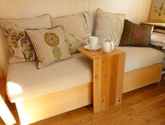 Vina's tiny house; what a great idea for tea table when you have extra guests and not enough table.