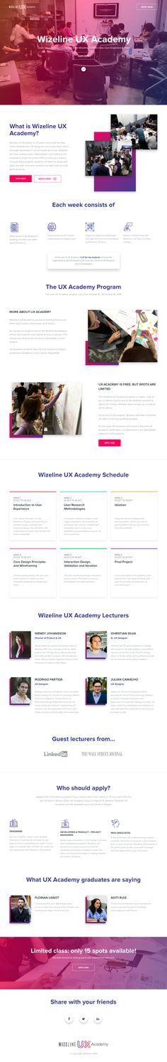 UX Academy – Landing page by Gllrmo