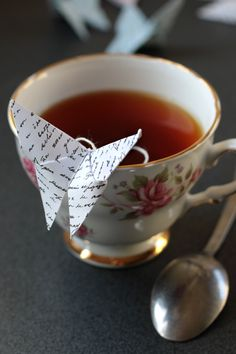 Origami Butterfly Teabags