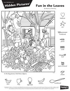 Hidden Picture Games, Hidden Picture Puzzles, Church Activities, Kindergarten Activities, Fun Activities, Coloring Book Art, Cool Coloring Pages, Hidden Pictures Printables, Highlights Hidden Pictures