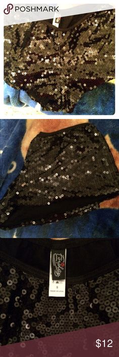 Just In NWOT Foreplay Sparkle Tap shorts Sexy Shiny tap shorts for dance or exercise, pretty beading, NWOT never worn ( perfect for pole dancing which is great exercise) Foreplay Shorts