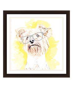 PTM Images Hipster Terrier Framed Giclee Print | zulily