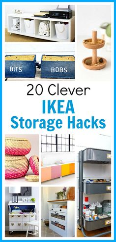 20 Clever IKEA Storage Hacks- Want to use IKEA products to organize your home? You don't have to use them as-is! Instead, check out these 20 clever IKEA storage hacks for inspiration! #diy #organization #IKEA #organizing